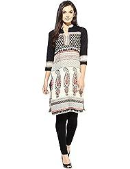 Indi Dori Women's Cotton Paisley Multi Printed Jaipur Kurti