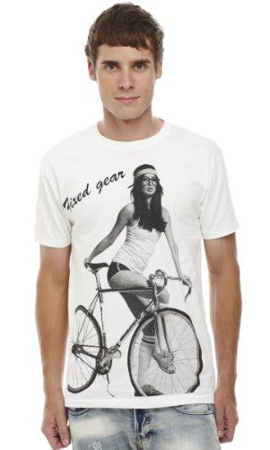 Retreez Girl with Bicycle Printed Men's T-shirt