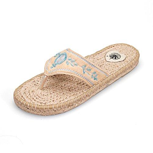 Sandales/Summer fashion femmes maison chaussons/flops/Sandales plates et pantoufles