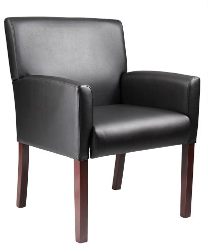 Incredible Buy Boss Reception Box Arm Chair Black Thanmorelessbm Machost Co Dining Chair Design Ideas Machostcouk