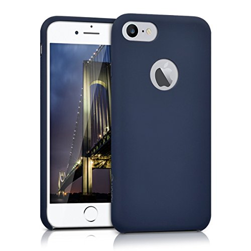kalibri-Silikon-Hlle-matt-fr-Apple-iPhone-7-TPU-Schutzhlle-Case-in-Dunkelblau