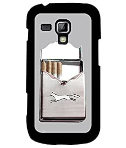Samsung Galaxy S Duos S7562, Fuson Premium Cigarette Designer Metal Printed with Hard Plastic Back Case Cover