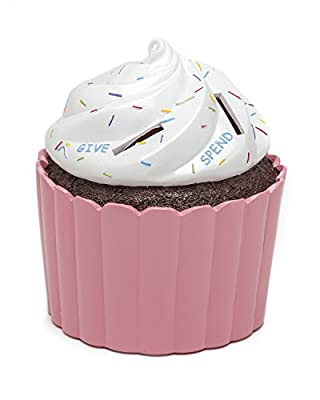 Cupcake Coin Bank - Coin Bank for Girls - Teach Financial Literacy for Kids - Perfect Kids Money Bank - Piggy Bank of the Future