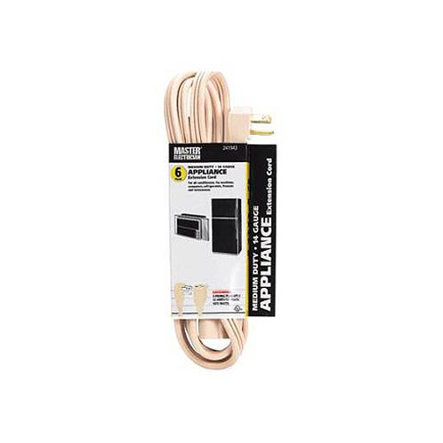 Master Electrician 03532ME 6-Feet Beige Air Conditioner or Major Appliance Cord