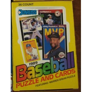 1989 Donruss Baseball Wax Pack Box 36 Count Unopened Misc Look for Ken Griffey Jr Rookie Card