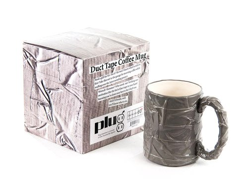 Silver Duct Tape Mug Coffee Cup, Mr. Fix It Diy Man Gift