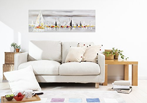 Kunstloft peinture acrylique 39 les sept mers 39 150x50cm for Peinture acrylique murale