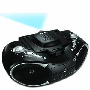 Aiptek Mobile cinema D20 Video Projecteur portable Lecteur DVD intégré 20 Lumens 4:3 Noir