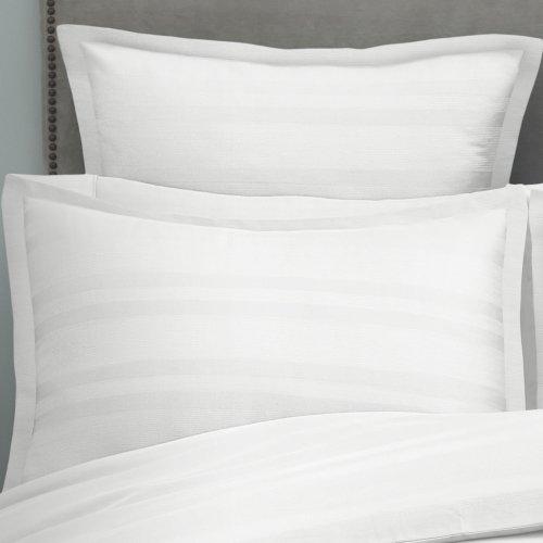 Modern Living 1C92278 Arezzo Stripe Sham, King, White front-1032111