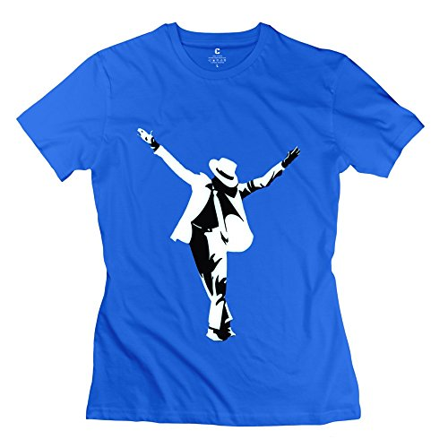 Funny Michael Jackson - Designed T-shirt For Women RoyalBlue