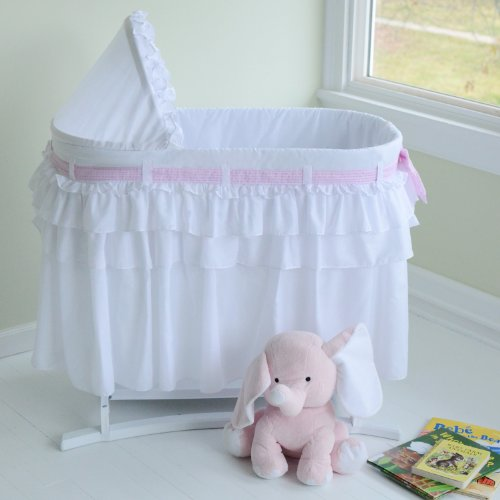 Lamont Home Good Night Baby Bassinet, Full White Skirt