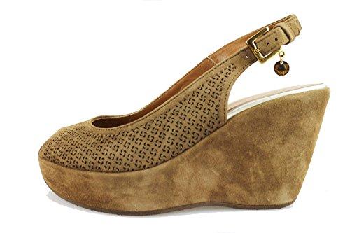 SAMSONITE sandali donna 37 EU marrone camoscio AG617