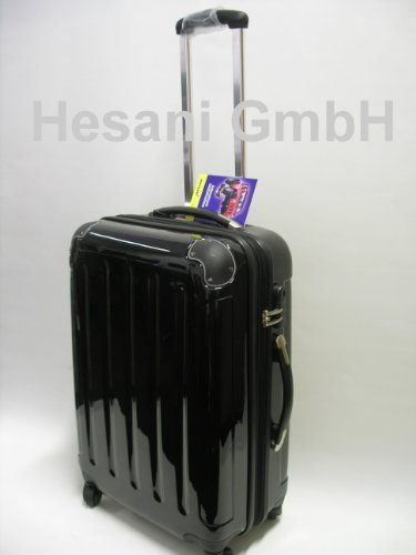 XL 60 cm Reisetrolley schwarz Trolley Herren