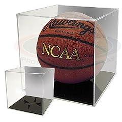 Buy BCW BallQube Grandstand Basketball Soccer Ball Holder - Mirrored Back - Sports Memoriablia Display Case - Sportscards... by BallQube