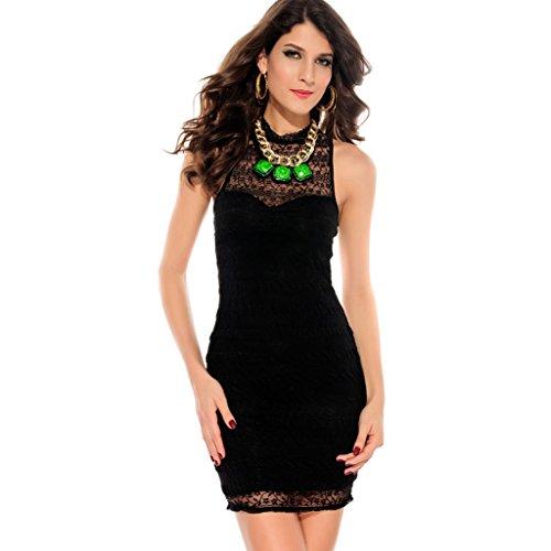 Gold Graceful Women'S Lace High Off The Shoulder Dresses Evening Mini Black