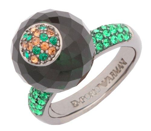 Emporio Armani Damen Ring Grau/Grün/Braun EG1703040, Ringgröße:53 (16.9)