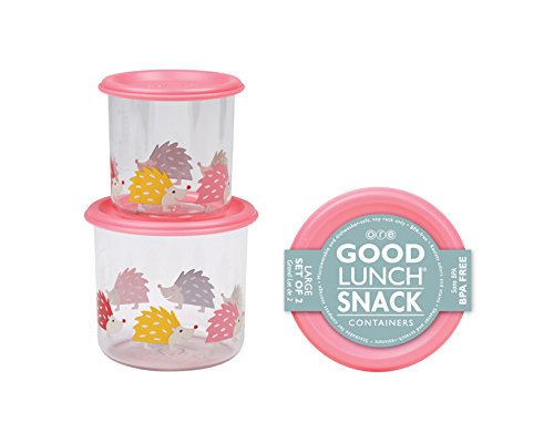 SugarBooger Good Lunch Snack Container, Hedgehog, Large