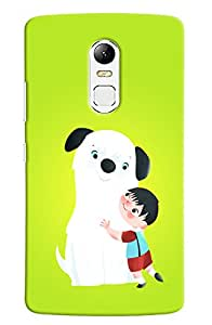 Omnam boy love with dog back cover for Lenovo Vibe X3