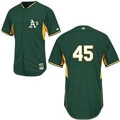 Jim Johnson Oakland Athletics Green Batting Practice Jersey by Majestic by Majestic