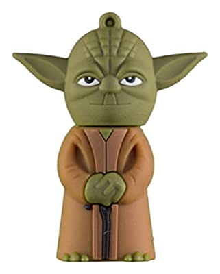 Zeztee Pen Drive Yoda Shape 16 GB USB 2.0 Cartoon Designer Fancy Flash Drive in Green Color