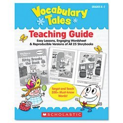 Scholastic Vocabulary Tales, 25 Books/16 Pages and Teaching Guide, Grades K-1 0545088658