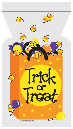 Trick or Treat - Halloween Zipper Sealed Goody Bags - 12/Pack