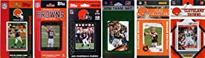 NFL Cleveland Browns Six Different Licensed Trading Card Team Sets by C&I Collectables