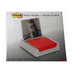 Post-it 3 x 3 Inches Note Holder with Photo Frame, White