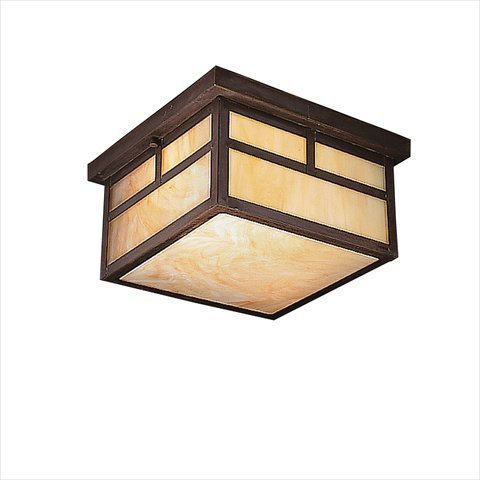 Kichler Kichler La Mesa Outdoor Ceiling Light - 6.5H In. Canyon View, Brass, Solid Brass, Full Size front-949189