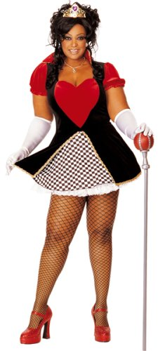 Queen of Hearts Costume - Plus Size 1X/2X - Dress Size 16-22
