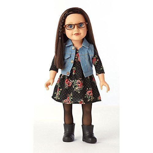 Journey Girls 18 inch Doll - Dana in Black Floral Knit Dress by Toys R Us