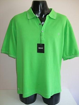 Dkny Mens Polo Shirt Sz 2xl Lime Green Clothing