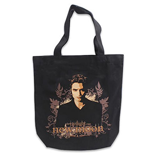 "Twilight New Moon ""Vector Edward Floral"" Tote bag - 1"