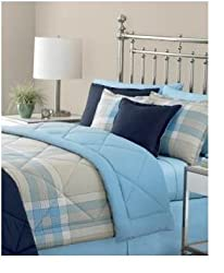 Martha Stewart Essentials Comforter Full/queen Reversible Banner Plaid