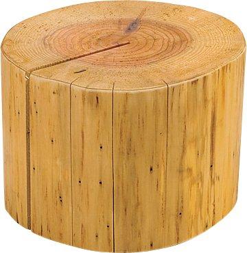 国産杉・丸太ディスプレイ台 小径(大) 約φ18~20xH15cm W45033