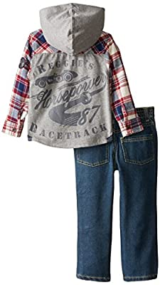 Boys Rock Little Boys' 2 Piece Pant Set Flannel Denim