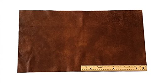 upholstery-leather-piece-cowhide-medium-brown-light-weight-12-x-24-inches-2-sf