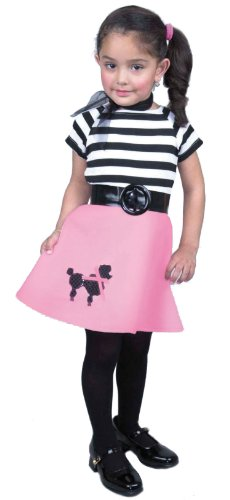 Toddler Pink Poodle 50's Costume - Toddler 2-4T