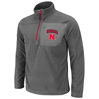 NCAA Nebraska Cornhuskers Mens Alpine 1 4 Zip Polar Fleece Sweatshirt by Colosseum
