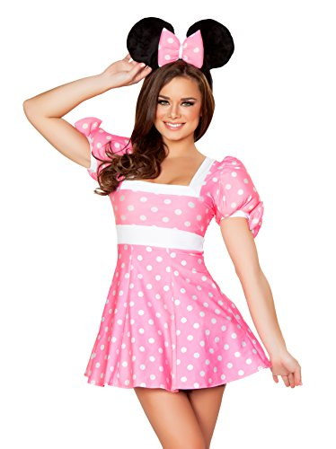 J. Valentine Women's Pretty In Pink Mouse Costume