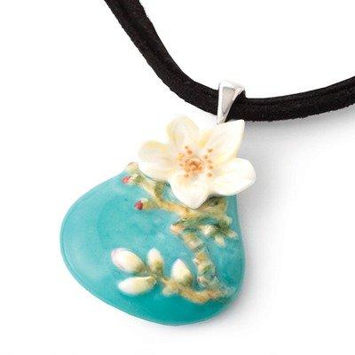 Franz Porcelain Collection Van Gogh Almond Flowers Necklace