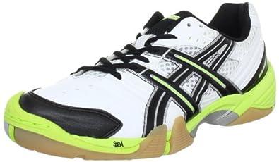 Asics GEL-DOMAIN E216Y, Herren Handballschuhe, Weiß (White/Black/Lime 0105), EU 42 (US 8.5)