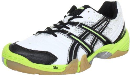 Asics GEL-DOMAIN E216Y, Herren Handballschuhe, Weiß (White/Black/Lime 0105), EU 45 (US 11)