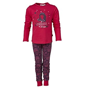 LEGO Wear Pyjama Manches longues Fille - Rose fonc - Pink (473 PINK) - FR : 10 ans (Taille fabricant : 140)