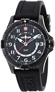 Buy Wenger Squadron Men s Gmt Watch 77073 With Sapphire Crystal And Gmt  Function Pvd Case And 548f3a1b49