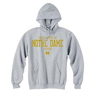 Notre Dame Fighting Irish Hooded Sweatshirt Gray University by Champion