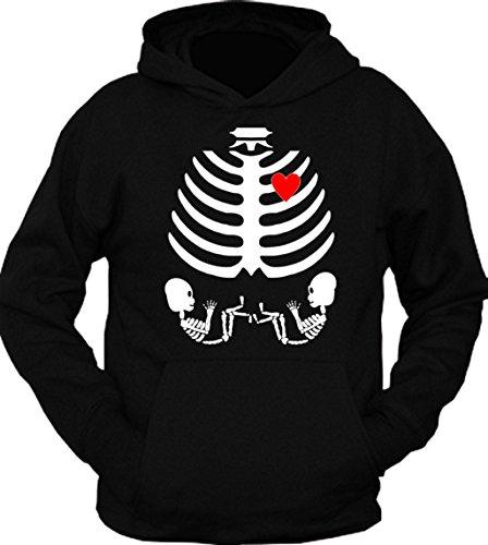 Baby Twins Skeleton Halloween Hoodie