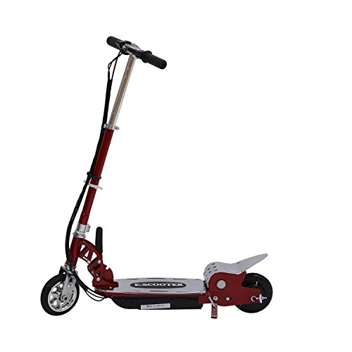 Electric 120W Kids Motorized Riding E Scooter - Red And Silver