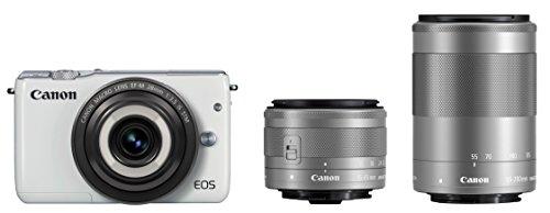 Canon ミラーレス一眼カメラ EOS M10(ホワイト)・クリエイティブマクロ  トリプルレンズキット EF-M28mm F3.5 IS STM EF-M15-45mm F3.5-6.3 IS STM EF-M55-200mm F4.5-6.3 IS STM 付属 EOSM10WH-CMTLK