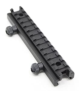 Zengi 1/2 Inch High 14-slot Flat Top Riser Mount, Picatinny Rail by Zengi